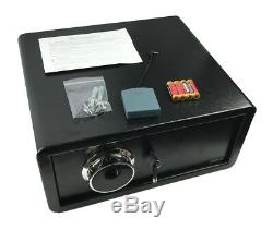 Compact Biometric Fingerprint Safe Combination Password Lock Vault Office Home
