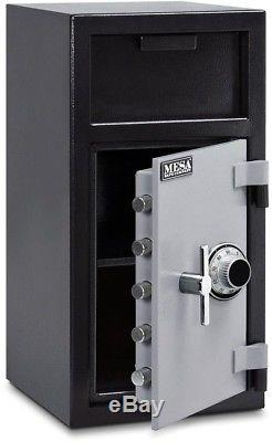 Depository Safe Box Cash Commercial Gun Jewelry Drop Front Load Combination Lock