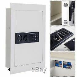 Digital Flat Recessed Wall Safe Security Lock Gun Cash Box