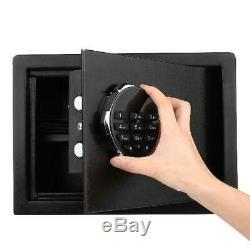 Digital Keypad Security Safe Water Fireproof Lock Box Money Document Gun Storage