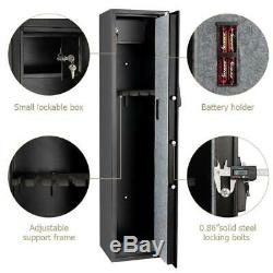 Durable 5 Electronic Gun Digital Safe Box Keypad Lock Home Office Hotel Black US