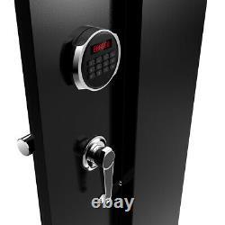 Electronic Gun Safe Cabinet Firearm Rifles Security Storage Lock Shotgun Pistol