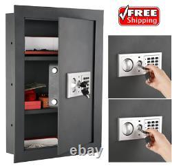 Electronic Hidden Fire Proof Wall Safe Lock Gun Cash Jewelry Home Office Steel