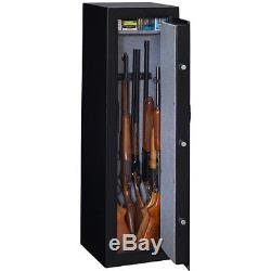 Electronic Lock Safe 10-Gun Gun Storage Fire Impact Resistant Removable Shelf