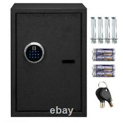 Fingerprint Biometric Digital Electronic Safe Box Keypad Lock Security Gun Cash