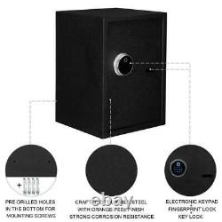 Fingerprint Biometric Digital Electronic Safe Box Keypad Lock Security with Keys