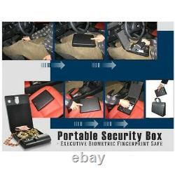Fingerprint Handgun Safe Box Biometric Pistol Case Quick Access For Two Pistol