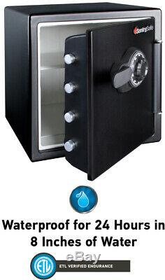 Fire Resistant Safe Box with Dial Combination Lock Steel Security Storage Proof
