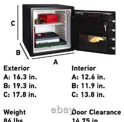 Fire-Resistant Safe & Water-Resistant Safe with Digital Keypad Lock, 1.23 Cu. NEW