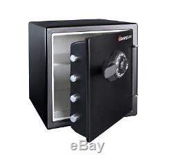 Fire Water Safe Lock Combination Sentry Home Security Fireproof 1.23 Cu Ft Box