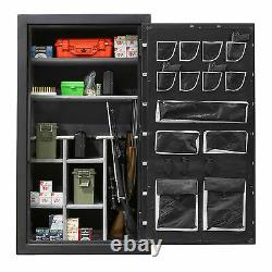 Fireproof Safe Storage for Gun Rifle w BRASS Dial Lock 72x40x27 GARAGE DELIVERY