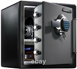 Fireproof Waterproof Safe Electric Lock Digital Keypad Steel Material 1.23 cu ft