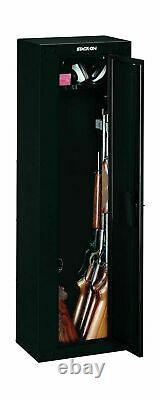GUN SAFE SECURITY CABINET Firearm Shotgun 8 Rifles Storage Steel Locker Shelf