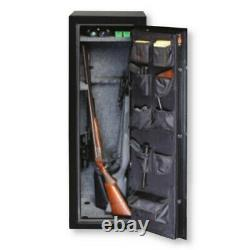 Gardall 11 Gun Safe Model GF5517, Black, Gold Trim, Combo Lock