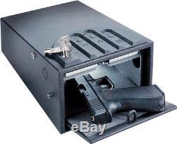 GunVault GV1000C-STD Standard Mini Vault Gun Safe 16 Gauge Black Steel
