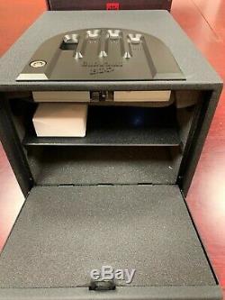 GunVault GVB2000 Biometric Handgun Safe Steel Portable Pistol Box Black New