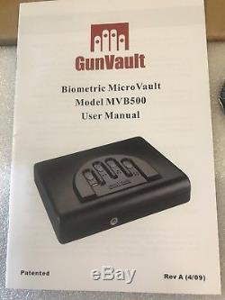GunVault MicroVault Biometric MVB500 Gun Safe Finger Print Scanner