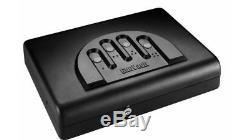 GunVault Microvault Portable Pistol Safe, Keypad Entry, 1x9V Battery, MV500STD