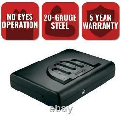 GunVault Personal Security Handgun Safe Gun Storage Biometric Lock Steel Black