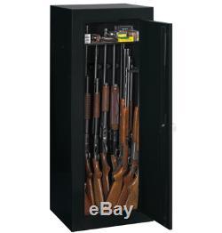 Gun Cabinet Locker Rifle Shotgun Pistol Storage Shelves Black Steel Vault Safe