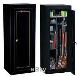 Gun Cabinet Safe Convertible Steel Security Guns Storage Vault Rifles Firearms
