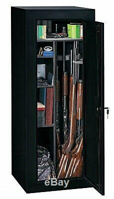 Gun Safe Cabinet 18 Rifles Storage Rack Locker Shotgun Shelf Pistol Firearm Lock