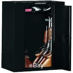 Gun Safe Cabinet Security Storage Locker Shelf Rack Steel Case Box 3-Point Lock
