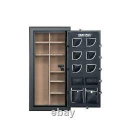 Gun Safe Long Rifle Shotgun Cabinet Storage Fire And Waterproof With E-Lock New