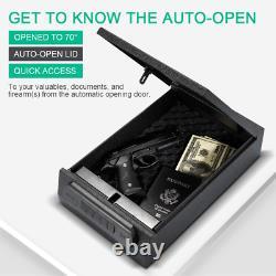 Gun Safe Pistol Case 5-Digit PIN Keypad Combination Lock Handgun Firearm Storage