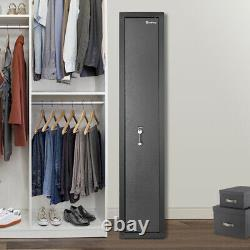 Gun Safe Security Firearm 3/5/9Rifles Storage Cabinet Shelf Digital/Blade Locker