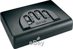 Gun Vault GVGVMVB500 Black MicroVault Biometric Handgun Safe