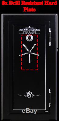 HD593024 Steelwater Home Hunting Safes 2 hr Fire Gun Rifle 22 Safe LED Dial Lock