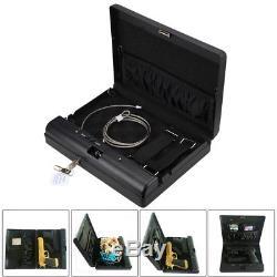 Hand Gun Safe Pistol Vault Box Lock Handgun Storage Safes Cabinet Home Security