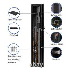 Heavy Duty Steel Rifle Gun Safe Cabinet Storage SecurityFirearm Biometric Lock