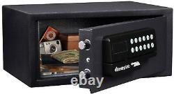 Home Electronic Hotel Office Safety Security Digital Safe Gun Lock Box Black