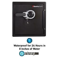 Home Safe Medium Fireproof Waterproof Electronic Dial Lock Black Gun Metal Gray