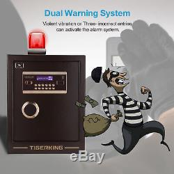 Home Security Electronic Lock Box Safe with Mechanical Override, Digital safe