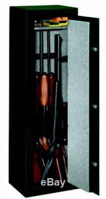 Home Security Gun Safe Adjustable Shelves Barrel Rests Steel Handle Locking Bolt