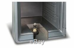 Key Combination Safe Deposit Box Fire Proof Water Resistant Theft Cash Jewelry