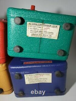 LOT OF 4 Vintage Fort Knox Metal Combination Lock Bank/safes