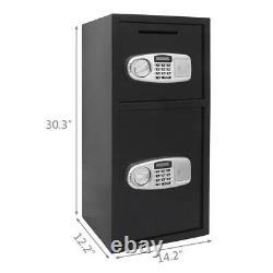 Large 30.5 Double Digital Krypad Safe Box Keypad Lock with Keys Home Office US