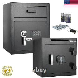 Large Digital Electronic Safe Box Keypad Lock Security Gun Home Office Hotel New