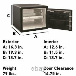 Large Fire Home Sentry Safe Dial Lock Box Security Steel Fireproof SFW082D