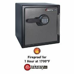 Large Fire Home Sentry Safe Electronic Lock Box Security Steel Fireproof SFW123E