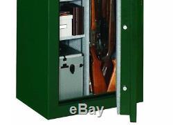 Large Fireproof Gun Safe Vault Cabinet 24 Guns Rifles Shotguns Combo Lock Green