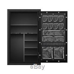 Large Fireproof Gun Safes Cabinet for Rifles with Mechanical Lock 59x36x25