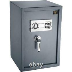 Large Safe Box Electronic Lock Sentry Fireproof Steel Home Office Security Gray