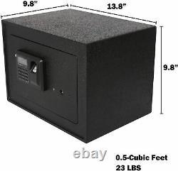 Luckyermore Security Box Digital Safe Electronic Steel Fingerprint Lock Jewelry