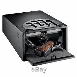 Mini Vault Gun Safe Box Pistol Handgun Security Storage Indoor Safety Organizer