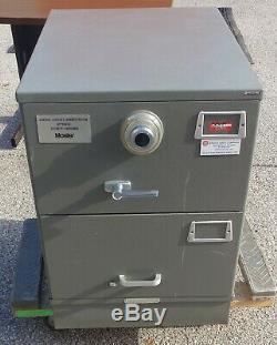 Mosler 2 Drawer File Safe Security Cabinet 4 combination lock